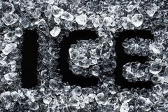 Crushed ice top view royalty free stock images
