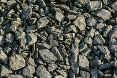 Crushed limestone aggregate Stock Image