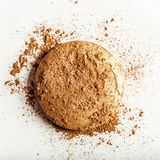 crushed make-up products - beauty and cosmetics styled concept royalty free stock image