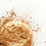 crushed make-up products - beauty and cosmetics styled concept royalty free stock photos