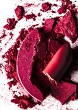 crushed make-up products - beauty and cosmetics styled concept royalty free stock photography