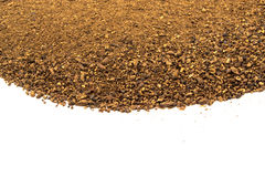 Crushed malt grains fermenting idolated on white background.  Royalty Free Stock Photos