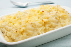 Crushed Mashed Smashed Potato Gratin Stock Image