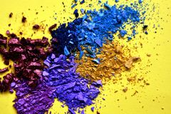 Crushed messy eyeshadow powder royalty free stock photos