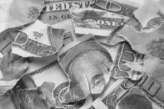 Crushed money Royalty Free Stock Image