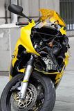 Crushed motorcycle Stock Images