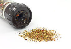 Crushed multiple color peppercorns Royalty Free Stock Photo