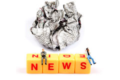 Crushed news Royalty Free Stock Image