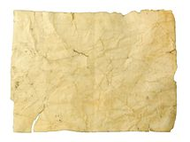 Crushed old dirty paper. Artistic texture (background Royalty Free Stock Photo