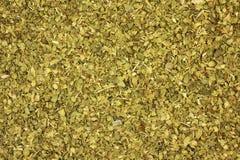 Crushed oregano leaves  background Stock Photo