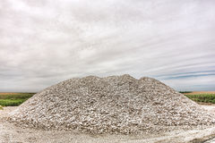 Crushed Oyster Shells and Clamshells on Marsh stock image