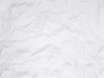 Crushed Paper. Crushed white paper isolated on white background. Using blending mode Multiply and opacity settings, you can add this texture to any image royalty free stock images