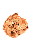 Crushed paper ball Royalty Free Stock Photos