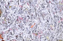 Crushed paper document. Detail of a crushed paper document Royalty Free Stock Images