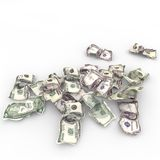 Crushed paper notes Royalty Free Stock Images