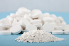Crushed pills Royalty Free Stock Images