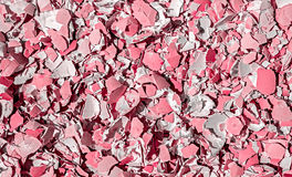 Crushed pink egg shells. Image of crushed pink egg shells. Abstract texture background Royalty Free Stock Photos