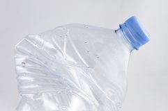 Crushed plastic bottle Stock Photos
