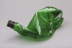 Crushed plastic bottle Stock Image