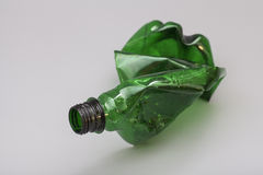 Crushed plastic bottle Royalty Free Stock Photos