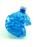 Crushed plastic bottle isolated Royalty Free Stock Photography