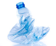 Crushed plastic bottle Royalty Free Stock Images