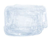 Crushed Plastic Box Royalty Free Stock Images