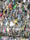 Crushed plastic containers Stock Photography