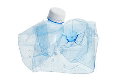 Crushed plastic water bottle Stock Photos