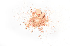 Crushed powder isolated on white background Stock Photo
