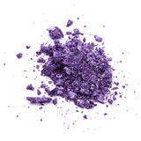Crushed purple eye shadow Stock Image