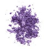 Crushed purple eye shadow Stock Photography