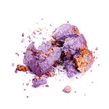 Crushed purple eye shadow Stock Photo
