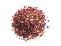 Crushed red chillies Stock Image
