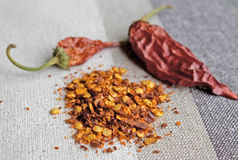 Crushed red chillies Royalty Free Stock Photo