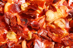 Crushed Red Hot Chilli Pepper, Super Macro Shot Royalty Free Stock Photo