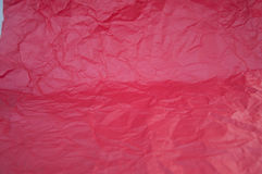 Crushed red paper texture. Background Royalty Free Stock Photos