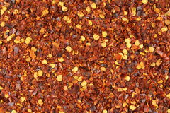 Crushed Red Pepper Flakes Closeup Food Background Texture Royalty Free Stock Image