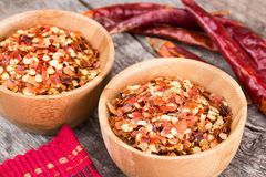 Crushed Red Pepper Flakes Royalty Free Stock Image
