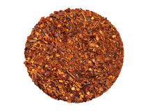 Crushed red pepper pile Stock Photos
