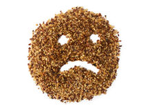 Crushed Red Pepper - Sad Face Stock Photography