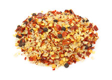 Crushed red pepper and salt seasoning Stock Photography