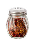 Crushed Red Pepper Shaker (with clipping path). Crushed Red Pepper Shaker isolated on white with clipping path. Isolation is on a transparent layer in the PNG royalty free stock images