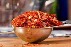 Crushed Red Peppers Royalty Free Stock Photos