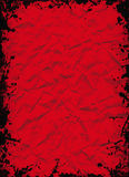 Crushed red sheet Stock Image