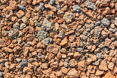Crushed red stones with slate aggregate stock photography