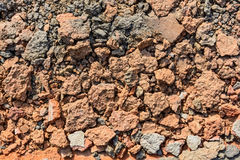 Crushed red stones with slate aggregate stock images
