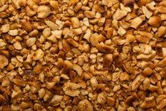 Crushed roasted peanuts Stock Image