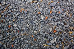 Crushed rock Different shapes and sizes. For background Royalty Free Stock Image