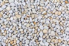 Crushed rock, gravel granite stones close-up. Stock Image